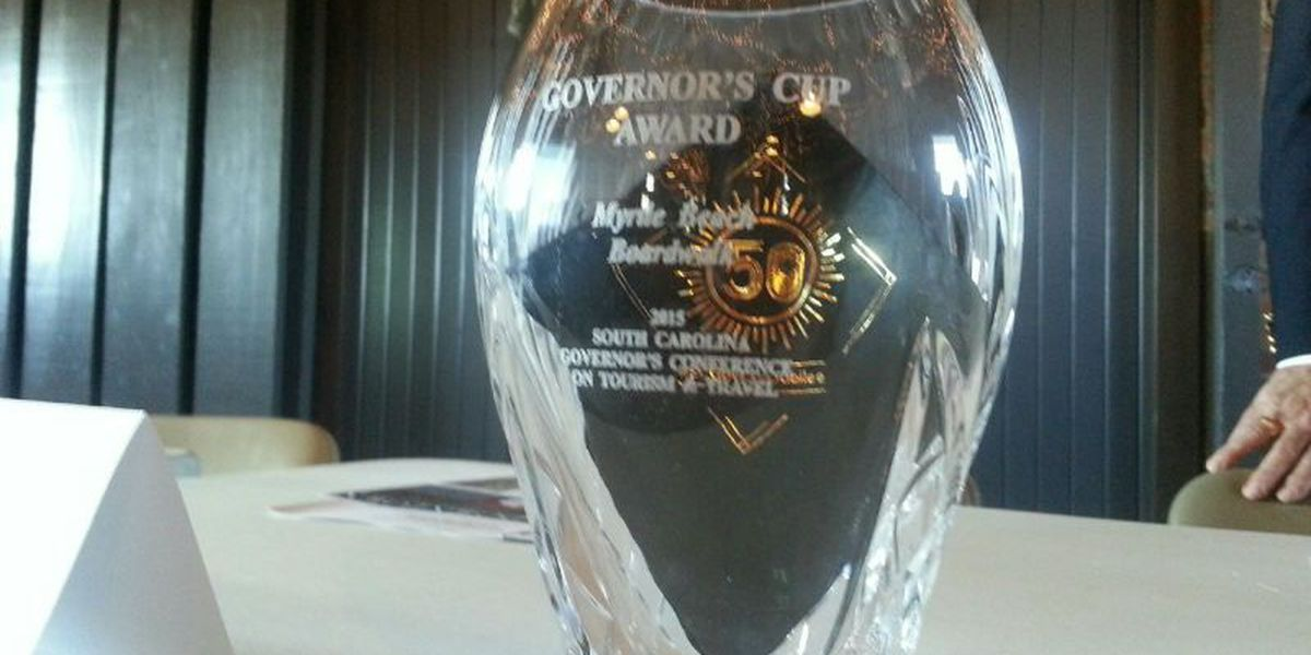 Myrtle Beach Boardwalk receives Governor's Cup state tourism award