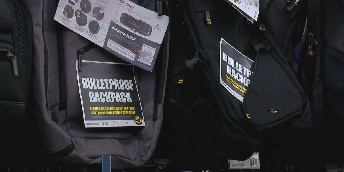 Bulletproof backpacks being sold in Grand Strand stores