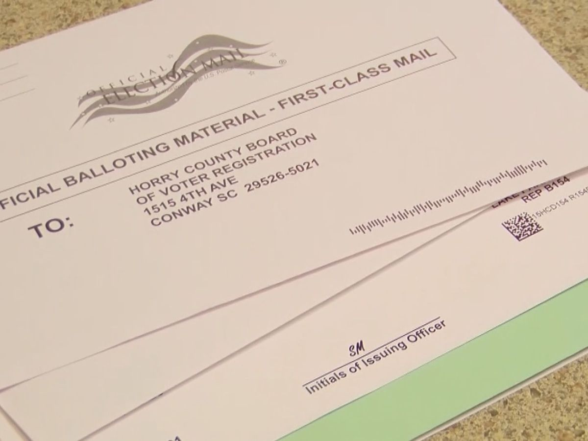 Horry County elections officials address concerns in delayed mail-in ballots