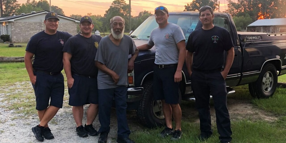 Horry County Fire Rescue crew goes above and beyond to help man with 3 flat tires