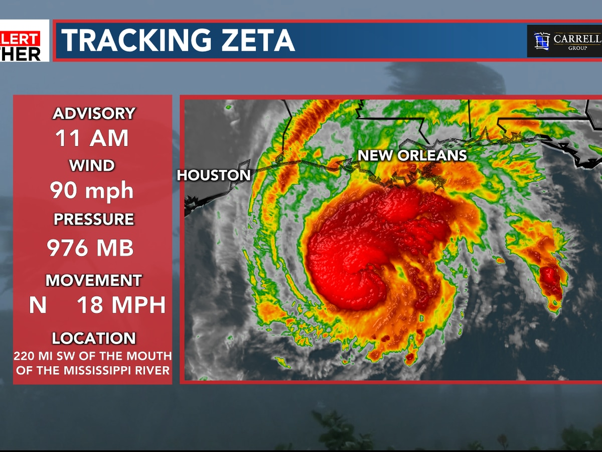 FIRST ALERT: Zeta to make landfall this evening