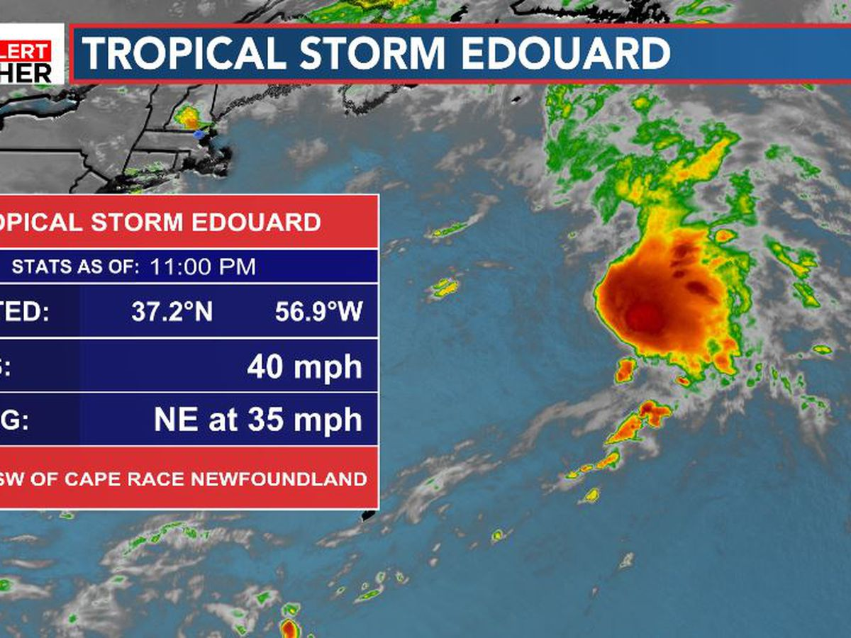 FIRST ALERT: Tropical Storm Edouard forms