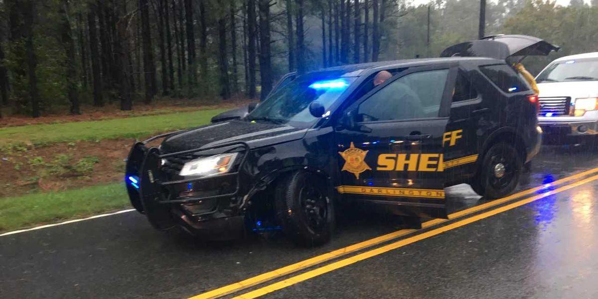 Darlington Co. Sheriff's Office patrol vehicle struck by 18-wheeler