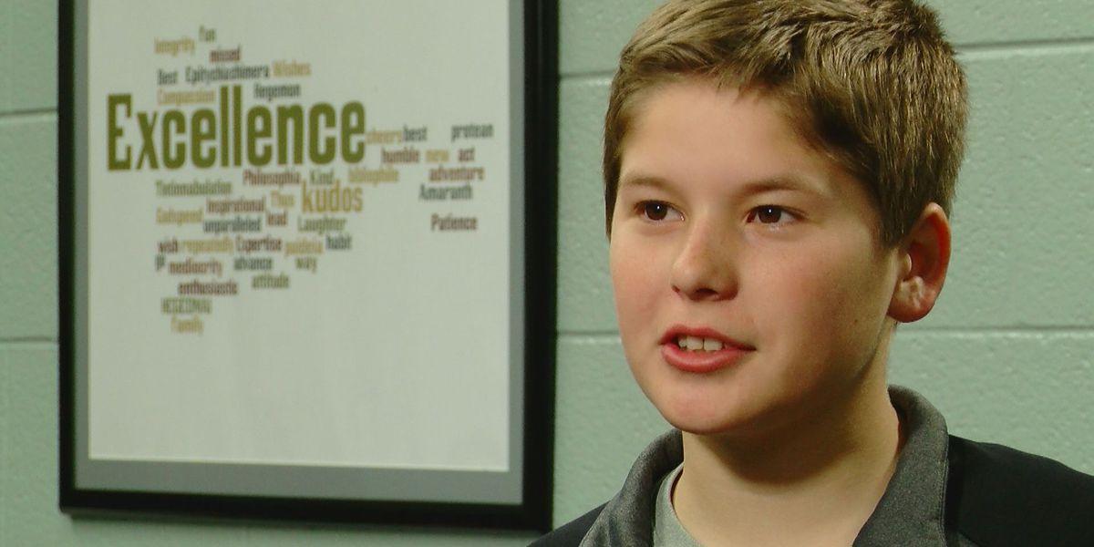 Student Spotlight: Teacher nominates eighth-grade 'All-American student athlete'