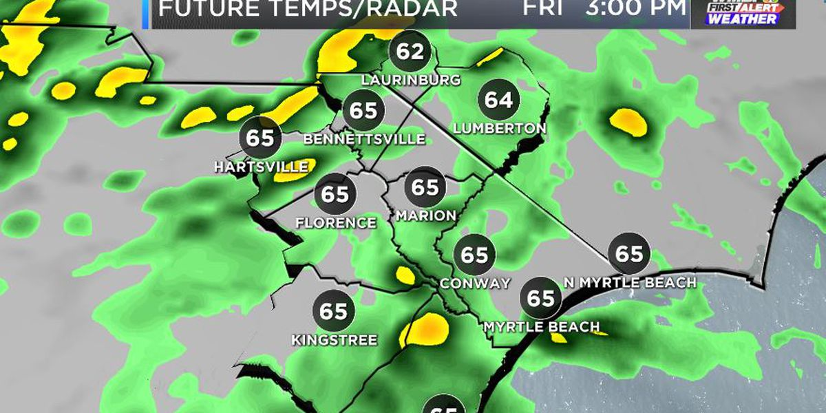 FIRST ALERT: Rain slowly wraps up tonight, more comes Sunday night