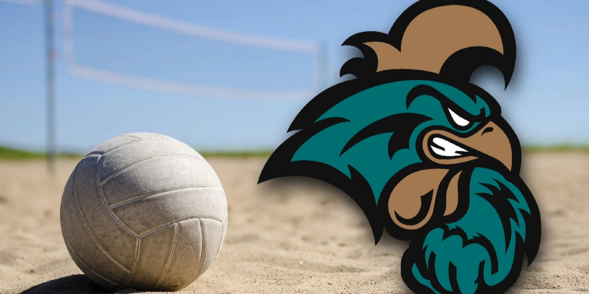 CCU beach volleyball falls to No. 13 FAU; tournament shortened due to weather