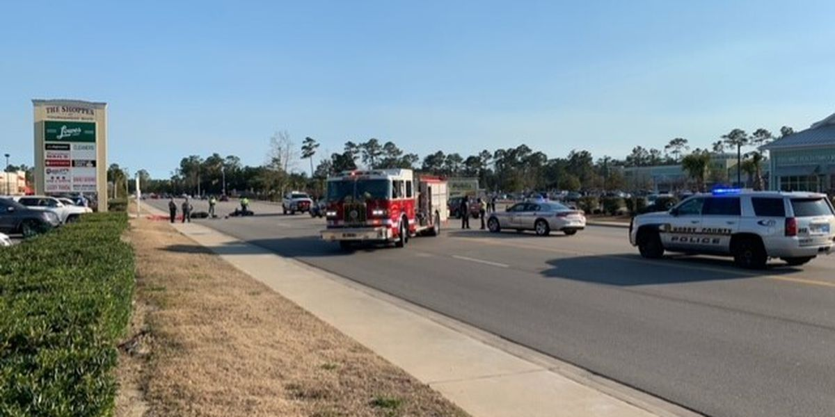 Road blocked following crash on S.C. 707 near Murrells Inlet involving motorcycles