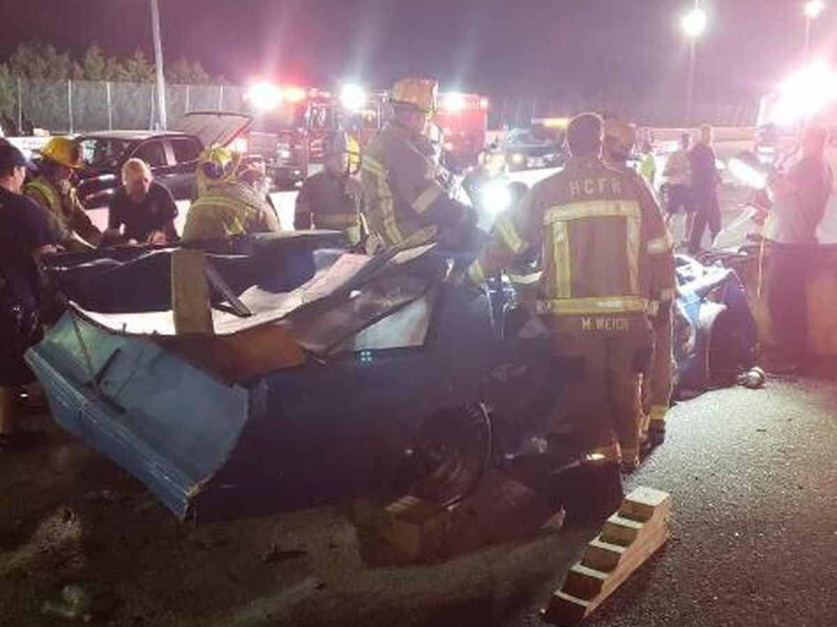 Driver suffers broken neck and nose in Saturday wreck at MB speedway, chaplain says