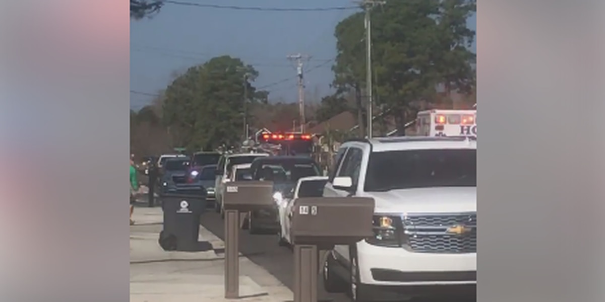 TRAFFIC ALERT: Cars backed up on Glenns Bay Road as crews respond to reported structure fire