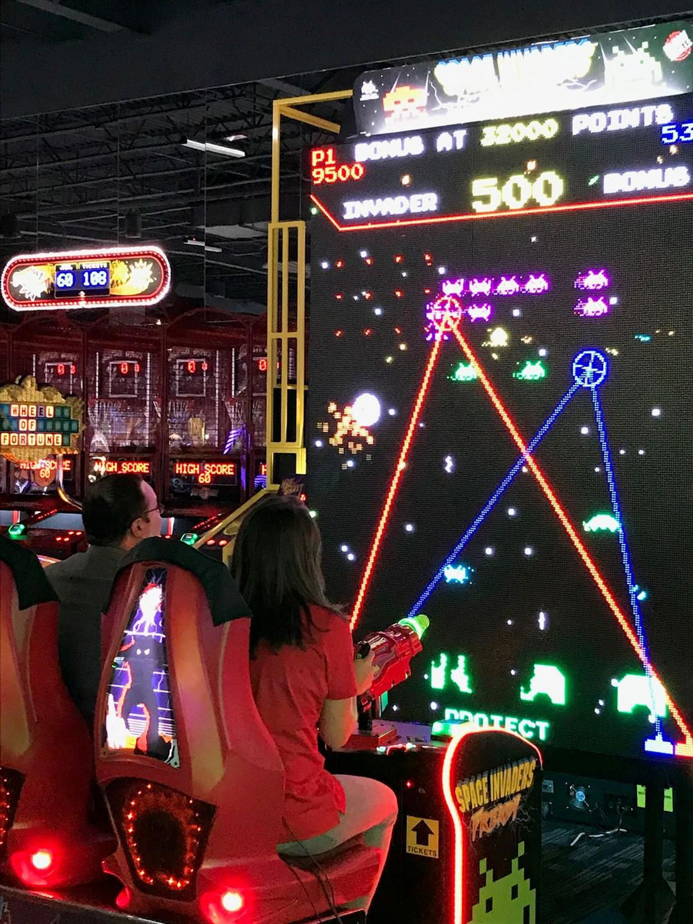 Image result for dave and busters space invaders frenzy
