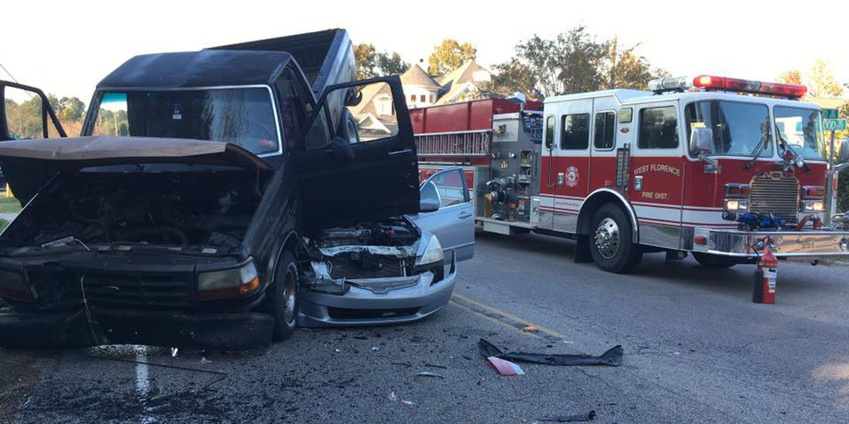 No injuries reported in three-vehicle Florence crash