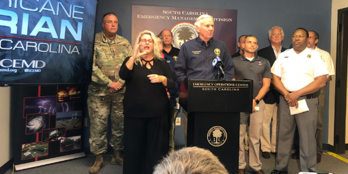 Evacuations ordered for Zone A of Horry and Georgetown counties beginning Monday at noon