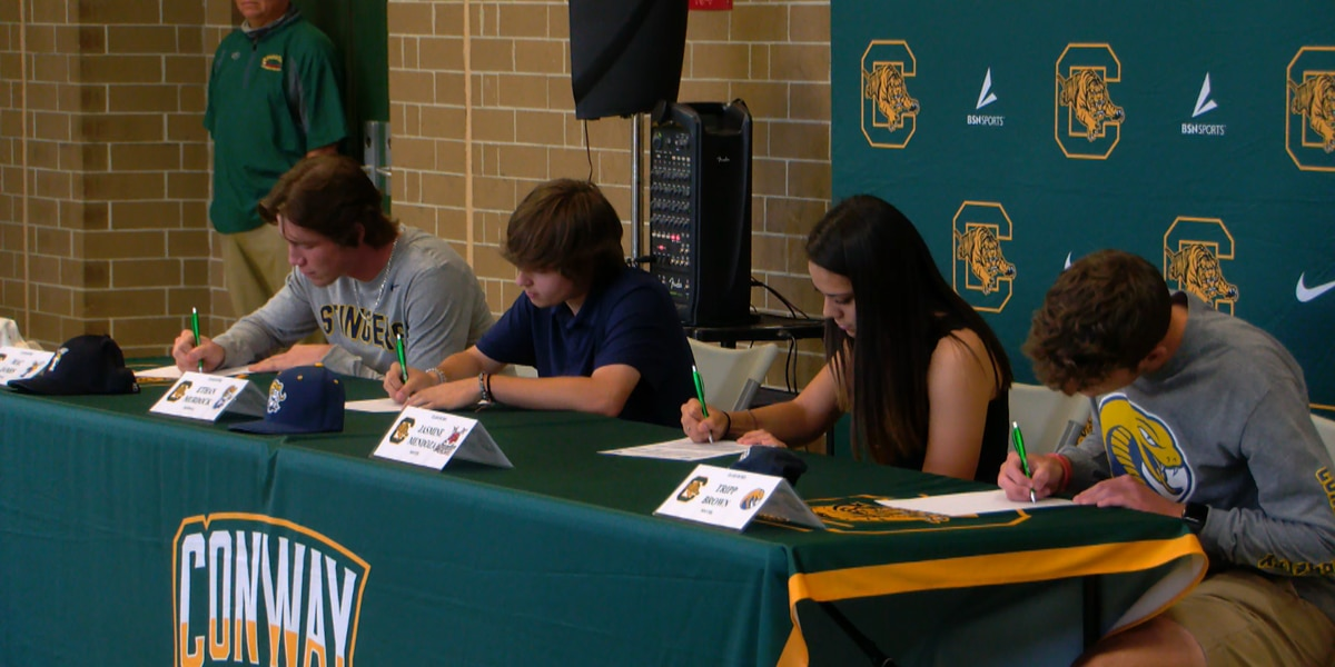Group of Conway HS student-athletes sign to play college sports