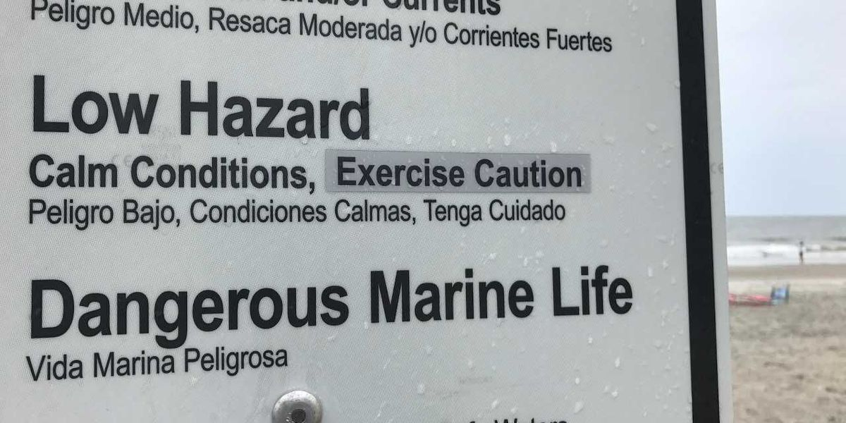 Myrtle Beach's new beach flag signs now have the correct spelling of 'exercise'