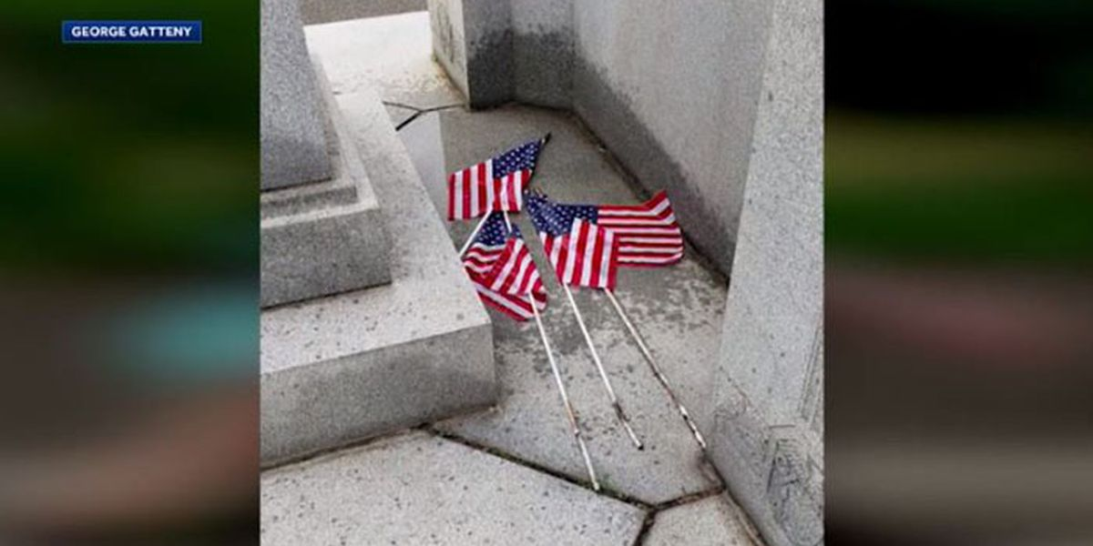 'Lowest level of humanity': Man allegedly urinates on flags in veterans cemetery