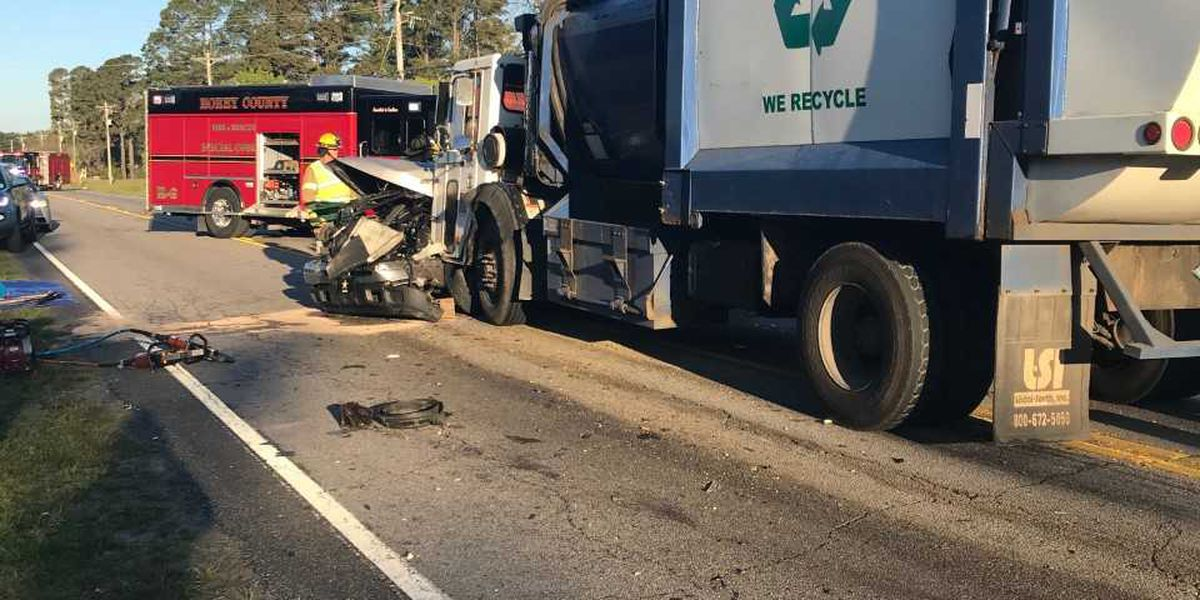 One killed in crash on Highway 90 involving garbage truck