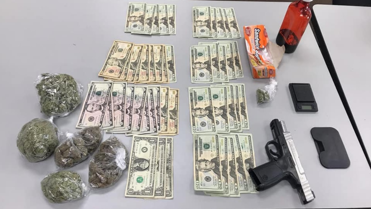 18-year-old arrested, charged with having marijuana, stolen gun