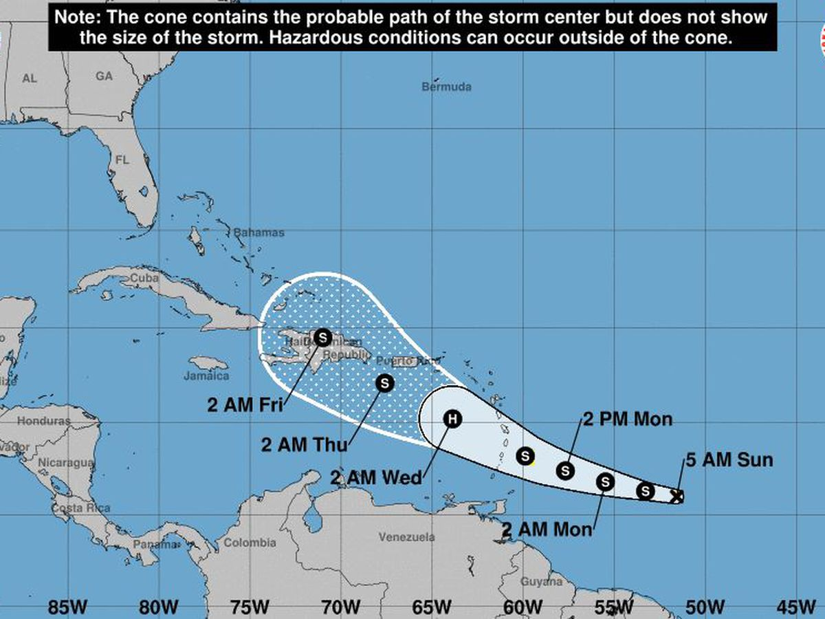 Tropical storm watch issued for Barbados as Dorian nears