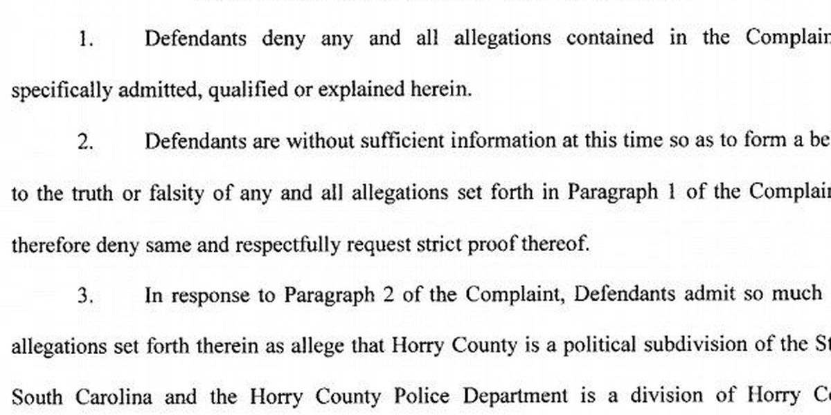 Horry County denies all allegations in sexual assault lawsuit