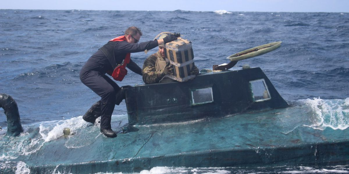 US Coast Guard Captures Submarine in the Pacific Carrying $165M in Cocaine