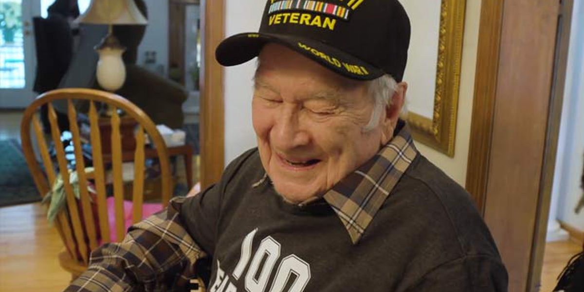 100-year-old veteran from North Charleston receives 1,200 birthday cards