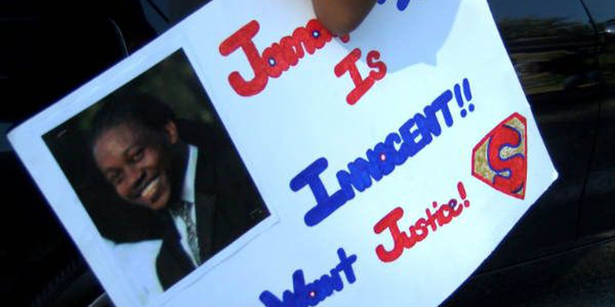 Family marches through Conway for son behind bars