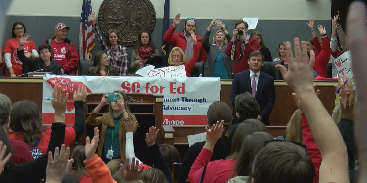 "Hundreds of teachers visit lawmakers days after ""massive"" education reform bill filing"