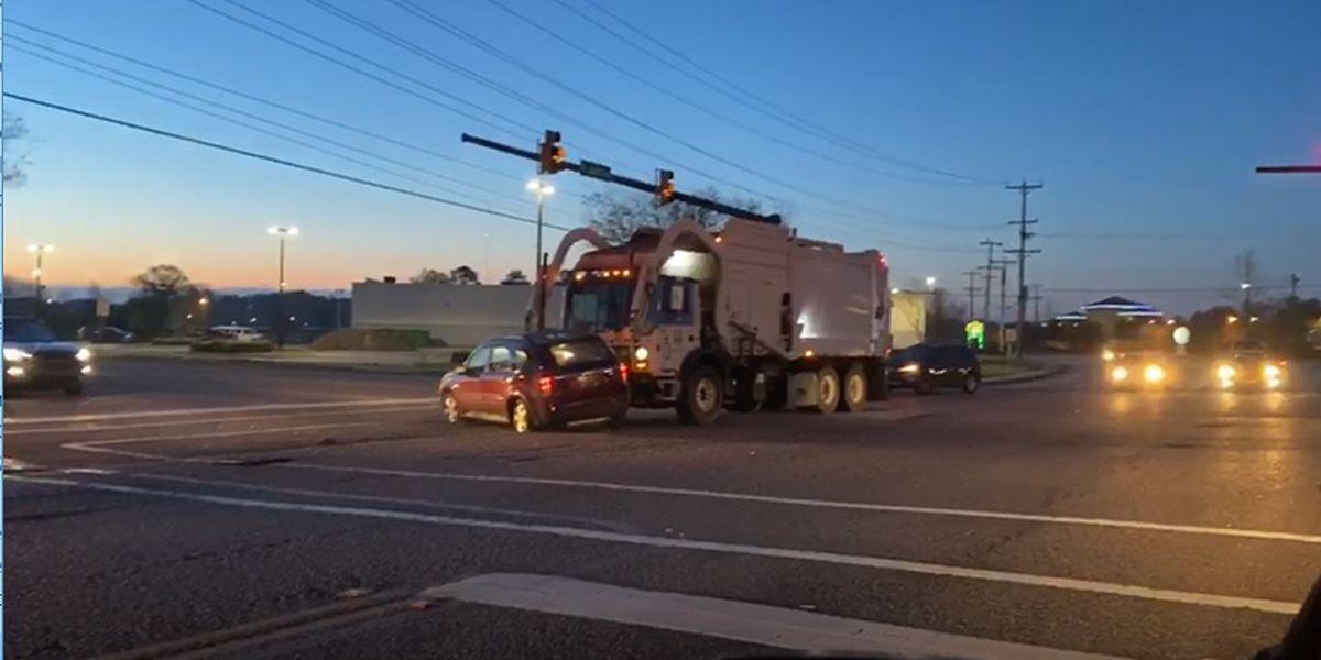 Crash involving garbage truck on Mr. Joe White Avenue sends one to hospital