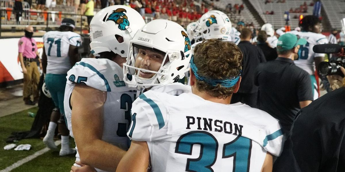 Chanticleers make history with 30-27 win over No. 21 Louisiana Lafayette