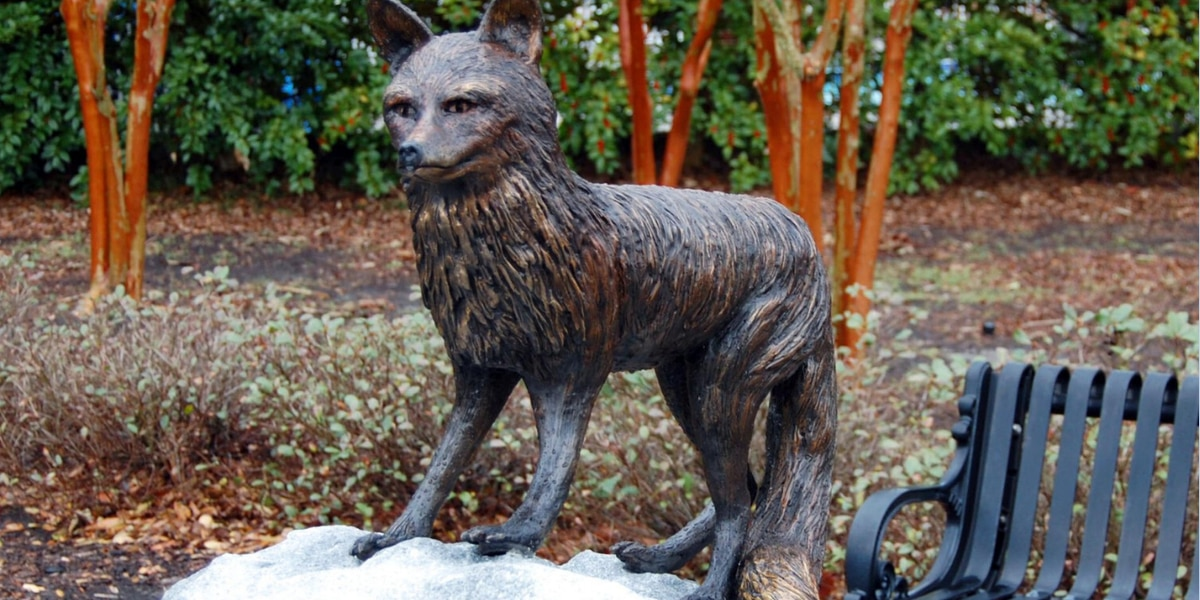 Thief stole bronze fox sculpture from Hartsville park, police say