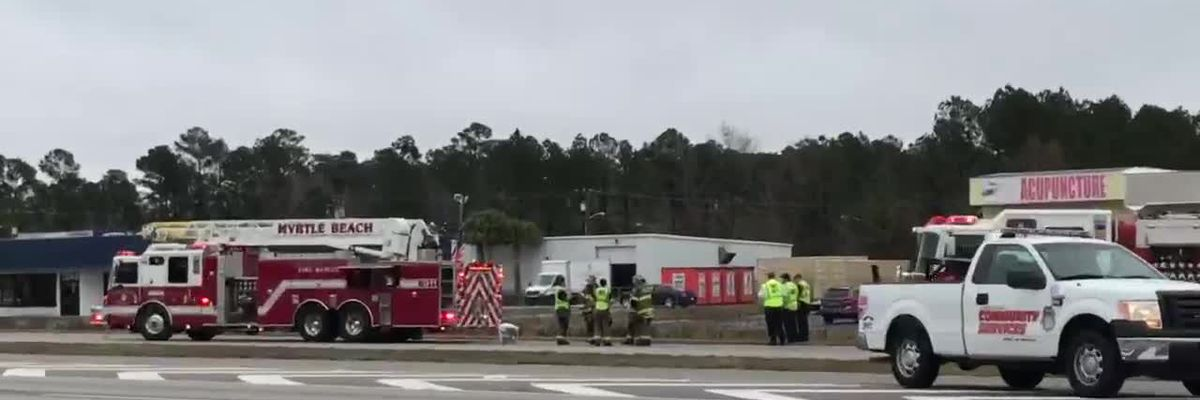 RAW: Chemical spill causes lane closures on U.S. 17 Bypass