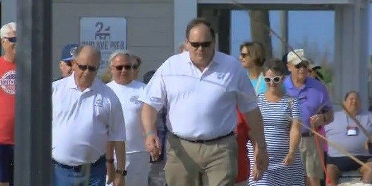 Myrtle Beach mayor, city council walk the boardwalk for National Walking Month