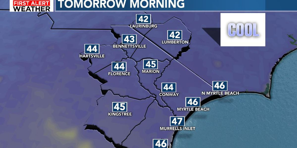 FIRST ALERT: Dry days and cool nights to finish the week