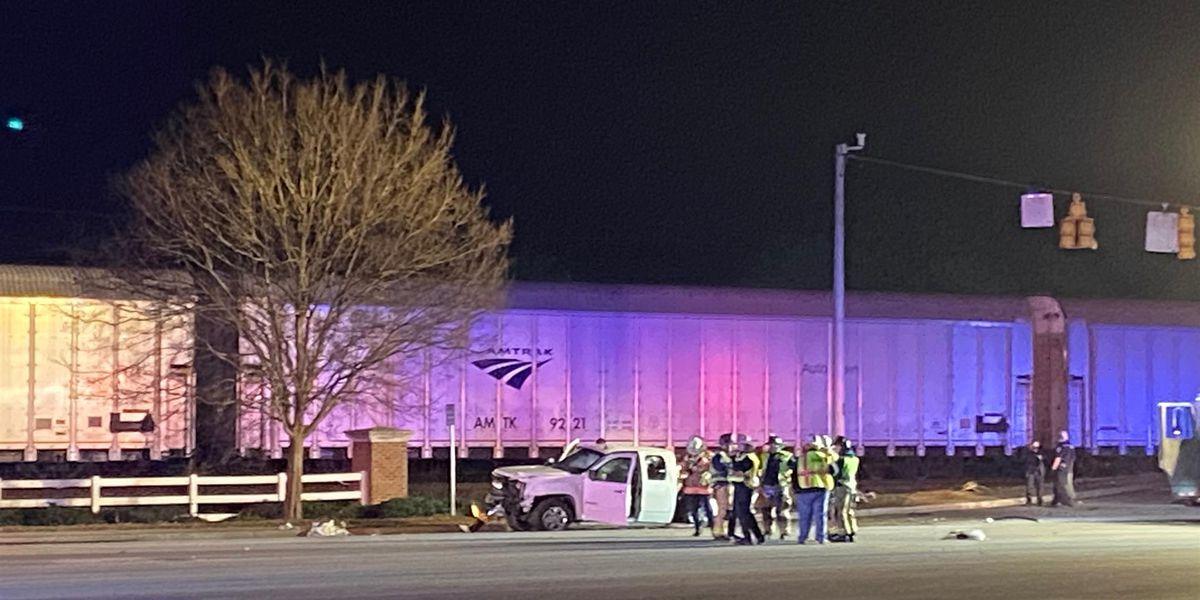 2 women, 5 children taken to hospital after train vs. truck crash
