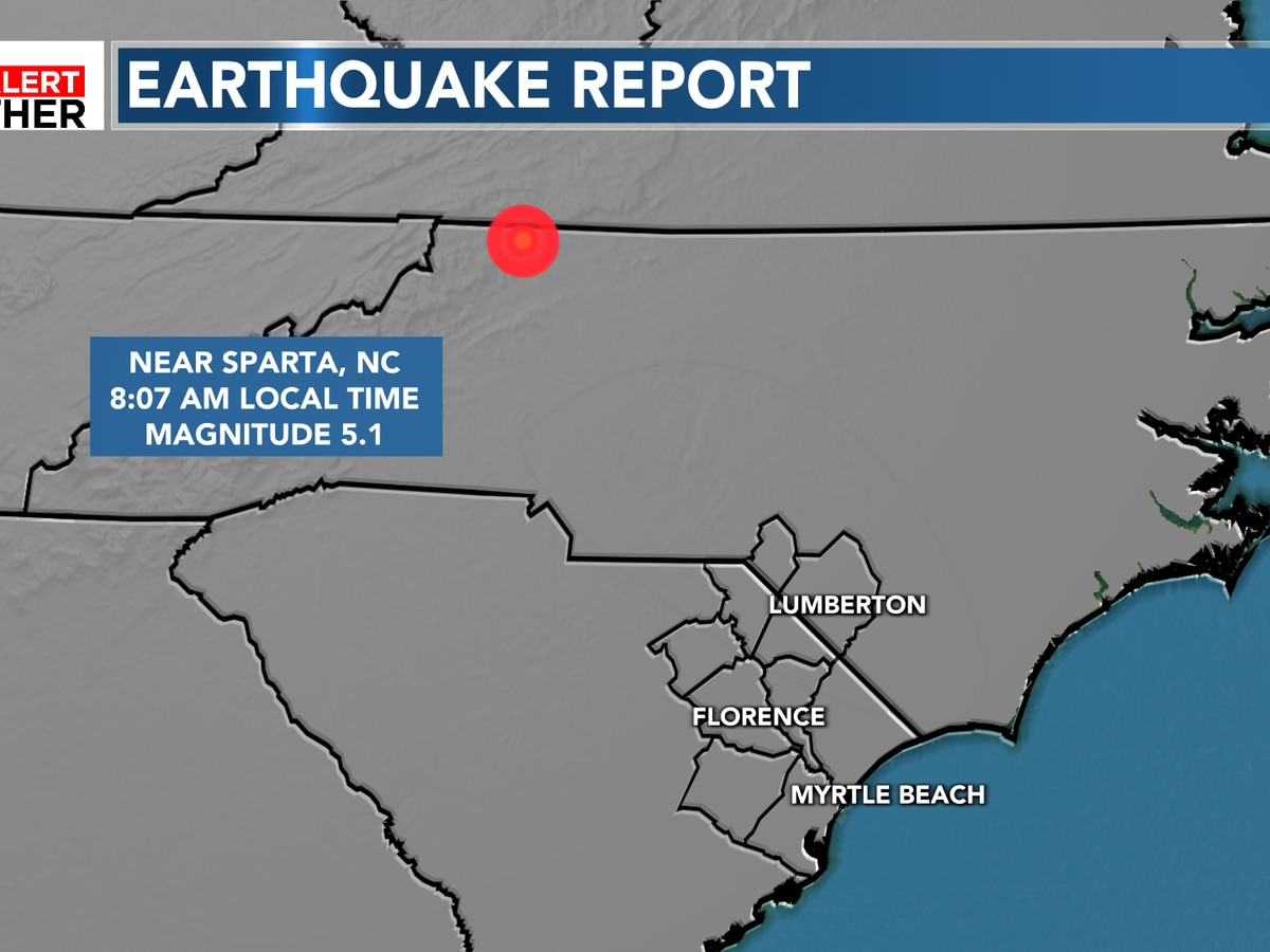 FIRST ALERT: 5.1 magnitude earthquake this morning in North Carolina