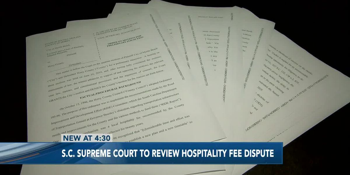 S.C. Supreme Court to review Horry County's appeal in hospitality fee dispute