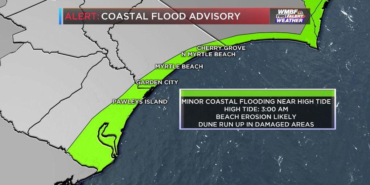 FIRST ALERT: Coastal flood advisory now in effect