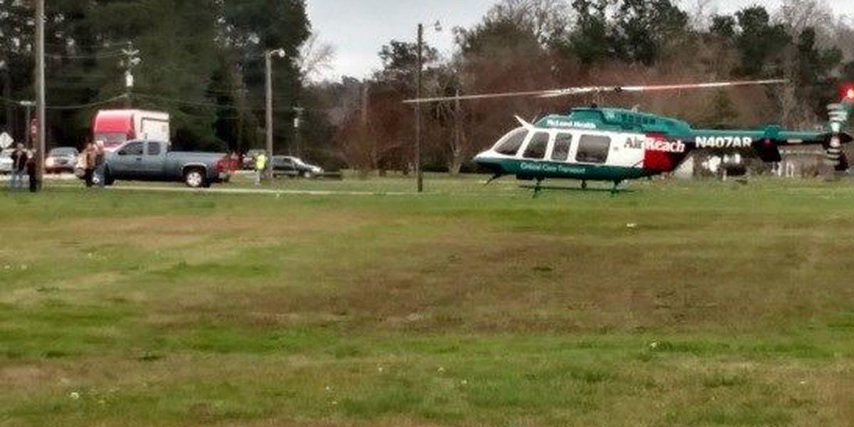 Marion County crash sends 10 to hospital