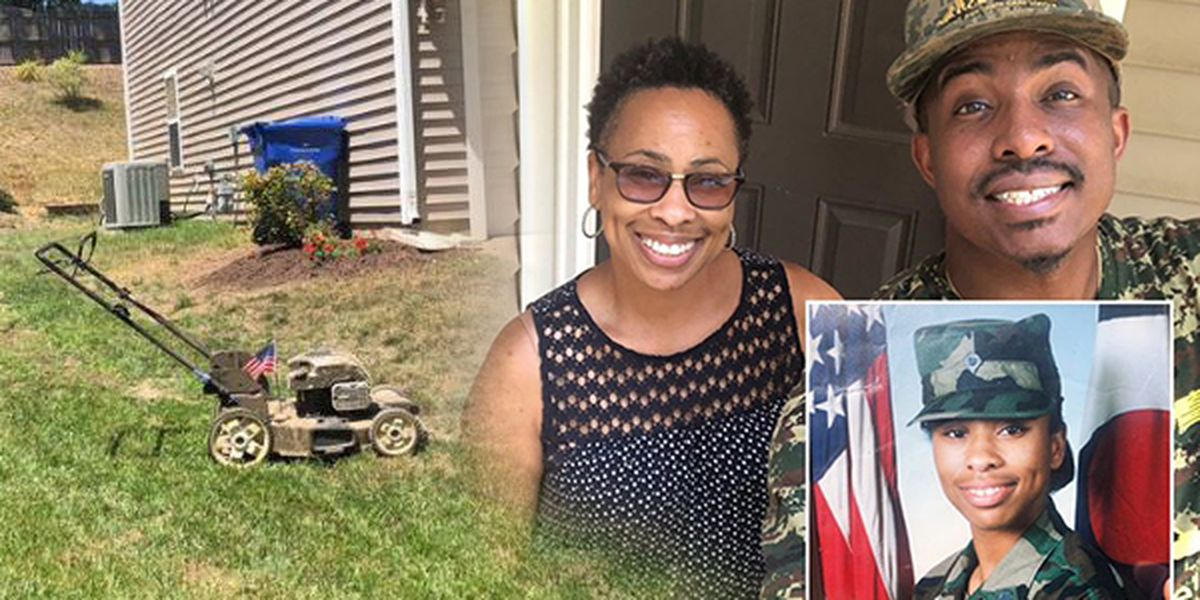 Man on cross-country lawn mowing mission for military veterans makes stop in NC on Memorial Day