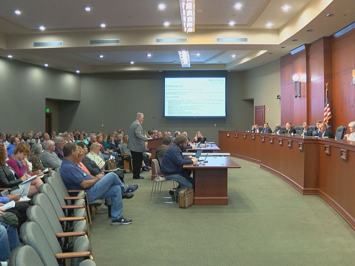 Horry County Council members walk out of meeting following vote on rezoning