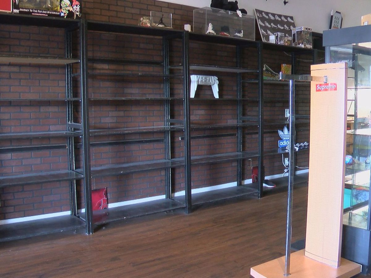 Local high-end sneaker store temporarily closes, moves out items due to looting fears