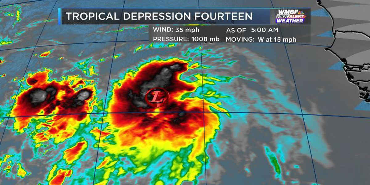 FIRST ALERT: Tropical Depression 14 formed overnight and could become a tropical storm later today