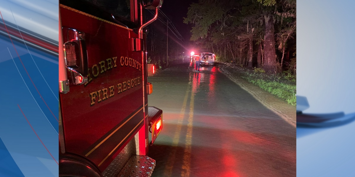 1 hurt, others rescued after vehicle recovered from floodwaters in Horry County, officials say