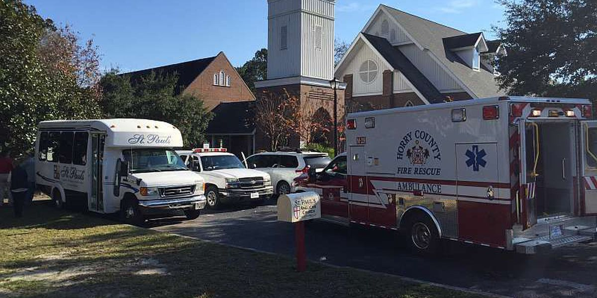 Crews respond to fire at Saint Paul's Church in Conway