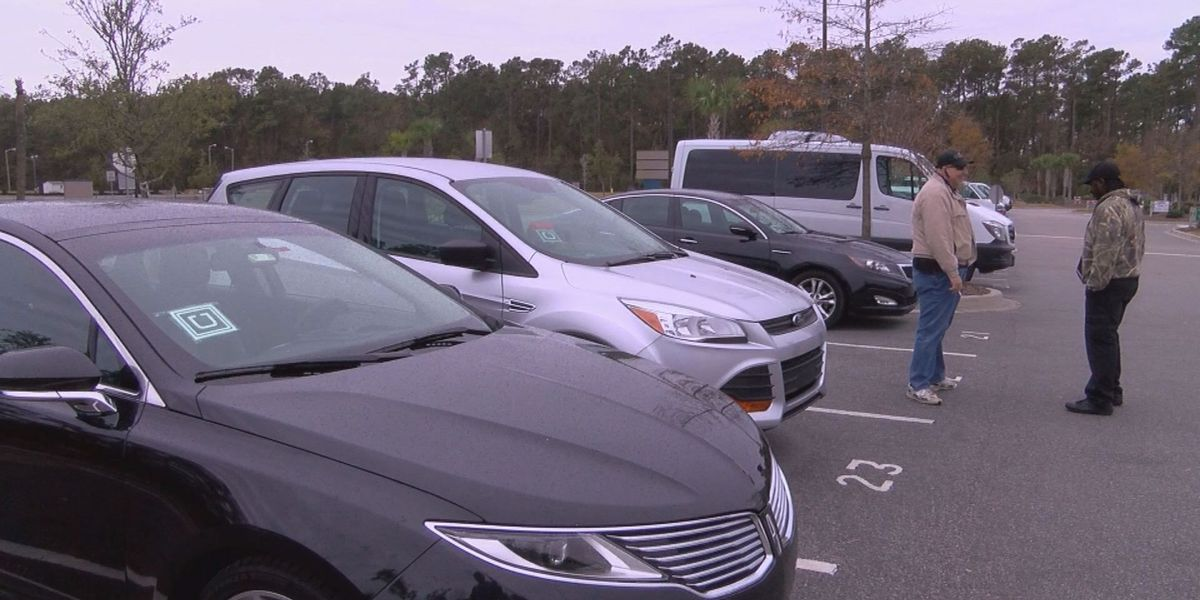 Myrtle Beach Airport installs new Uber lot