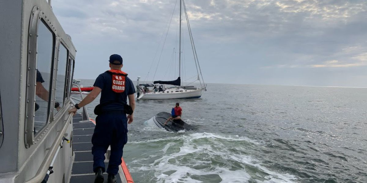 Coast Guard crews save duo 5 miles off Folly Beach
