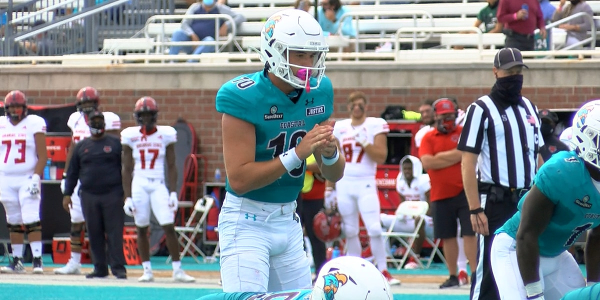 CCU QB Grayson McCall tabbed Sun Belt Offensive Player of the Week