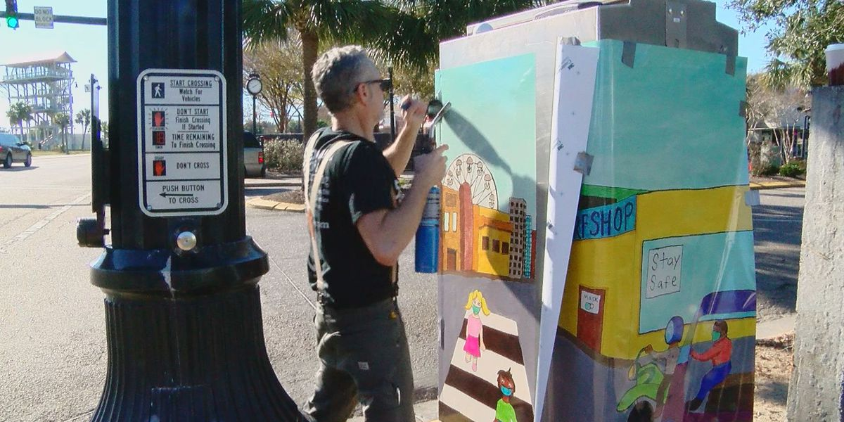 With a grant, Myrtle Beach begins installing vinyl decals to traffic control boxes