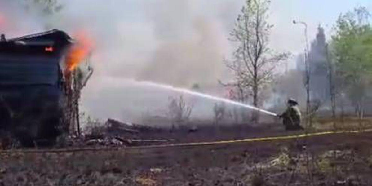 Marion Rural fire chief injured at large brushfire Saturday