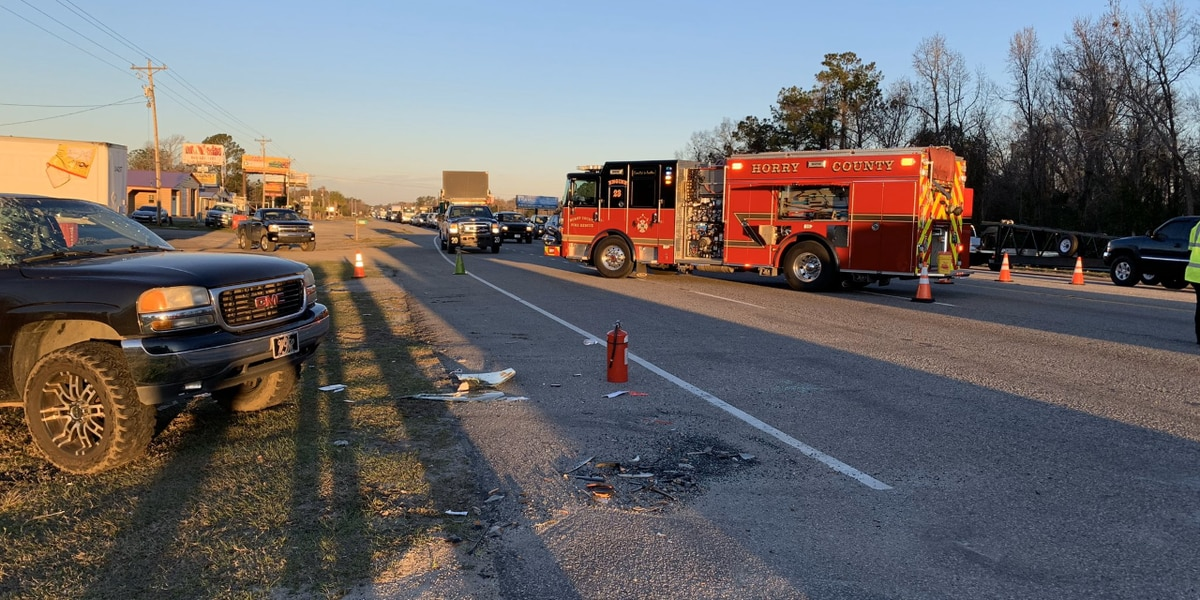 Multi-vehicle crash on U.S. 501 in Conway area sends four to hospital